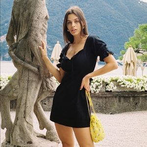 With Jean Juliette Dress in Black Size Small